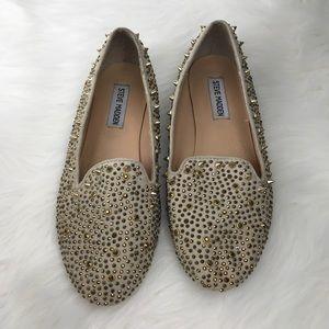 Steve Madden Crystal Studded Graanite Loafers